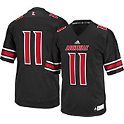 adidas Men's Louisville Cardinals #11 Black Replica Football Jersey