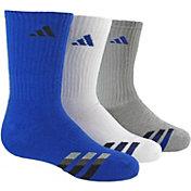 adidas Kids' Striped Crew Socks 3 Pack