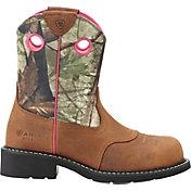 Ariat Women's Fatbaby Camo Steel Toe Western Boots