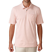Ashworth Men's Jersey Mini Stripe Pocket Golf Polo