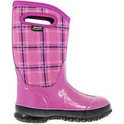 "BOGS Kids' Classic Winter Plaid 10"" Insulated Waterproof Rain Boots"
