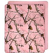 Realtree AP Pink Camo Plush Throw Blanket