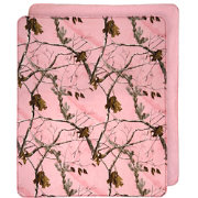 Realtree AP Pink Camo Plush Throw Blanket