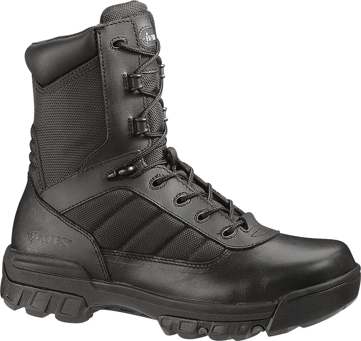 Mens Bates Tactical 8 Sport Composite Toe WaterResistant Side Zip Boots Black