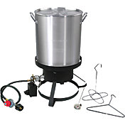 Cajun Injector 30 qt Aluminum Turkey Deep-Fryer