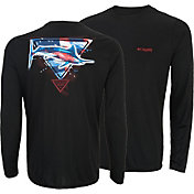 Columbia Men's PFG By the Shore Americana Long Sleeve Shirt