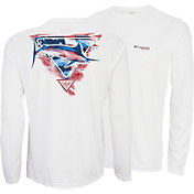 Columbia Men's PFG By the Shore Americana Long Sleeve Shirt