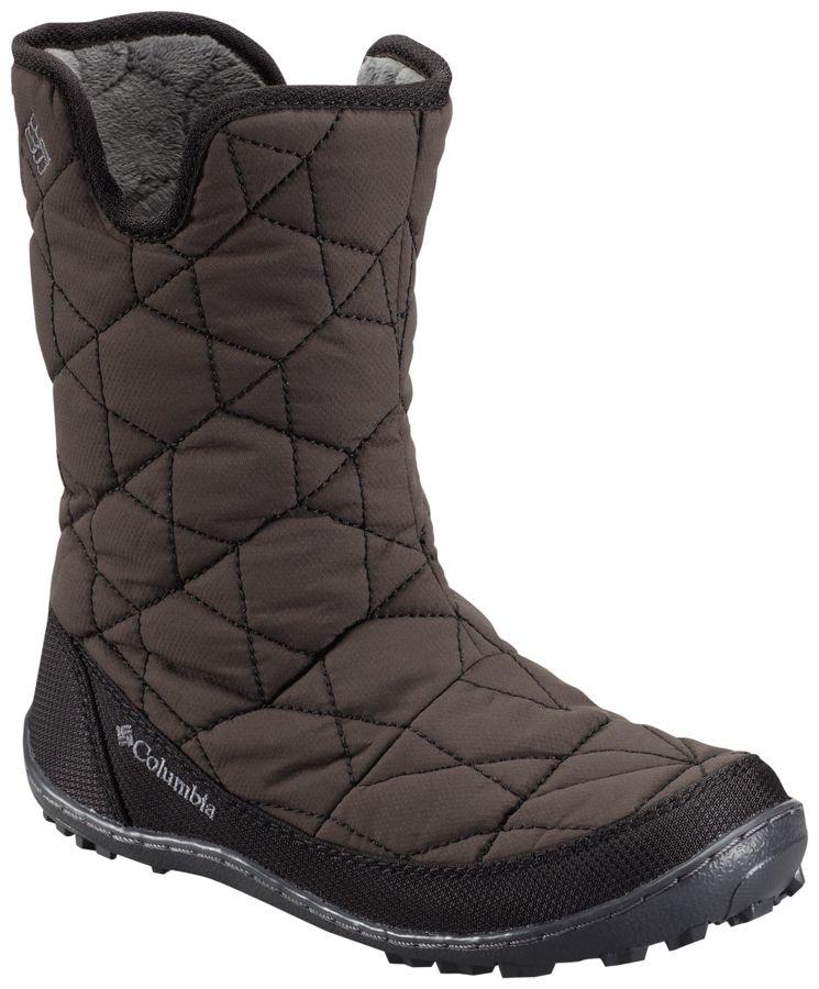ColumbiaYOUTH MINX SHORTY OMNI-HEAT WATERPROOF - Winter boots - black/spray T7o2QW4v