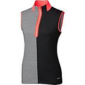 Annika Women's Stripe Mix Sleeveless Mock