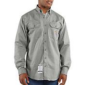 Carhartt Men's Flame Resistant Twill Long Sleeve Work Shirt