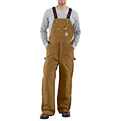 Carhartt Men's Zip-To-Thigh Quilt Lined Duck Bib Overalls