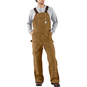 Carhartt Men's Unlined Zip-To-Thigh Duck Bibs