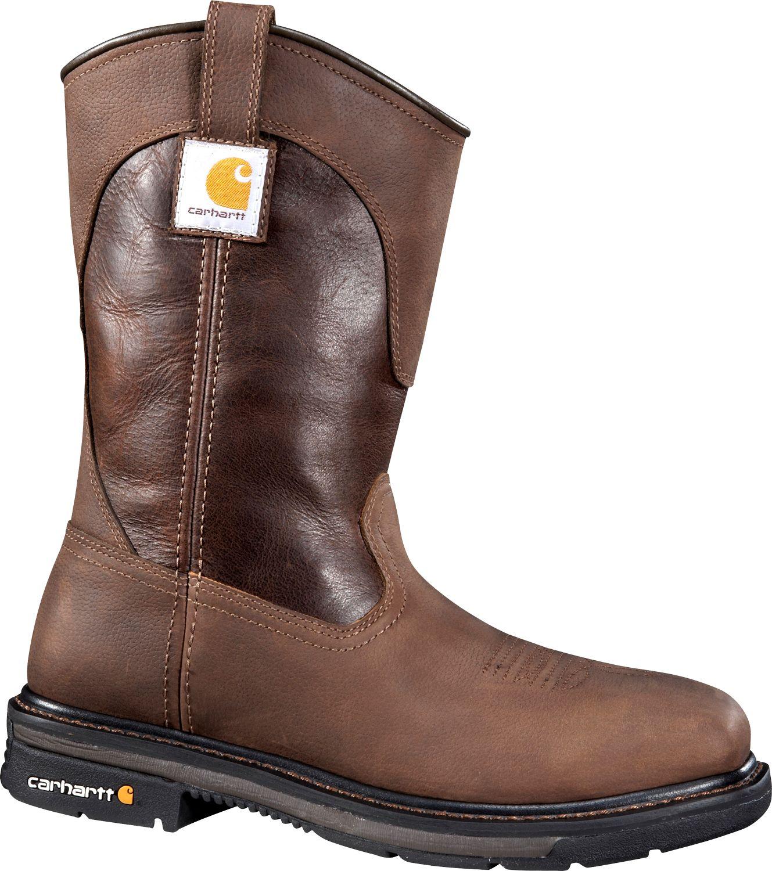 """Carhartt Men's 11"""" Square Toe Wellington Steel Toe Waterproof Work ..."""