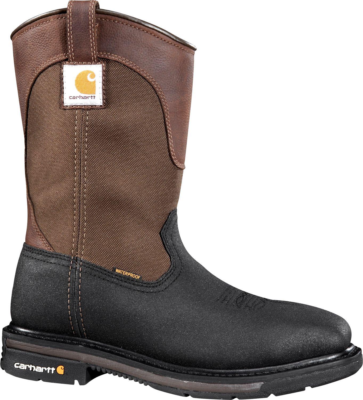 Carhartt Men's 11'' Square Toe Wellington Waterproof Steel Toe ...