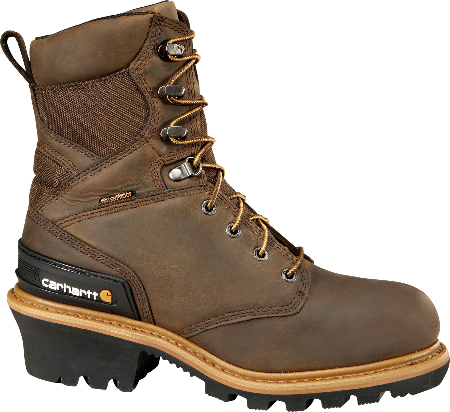 Product Image · Carhartt Men's Logger 8'' Waterproof 400g Steel Toe Work  Boots