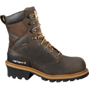 "Carhartt Men's Logger 8"" Waterproof Safety Toe Work Boots"