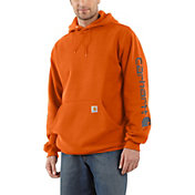 Carhartt Men's Midweight Hooded Logo Sleeve Sweatshirt