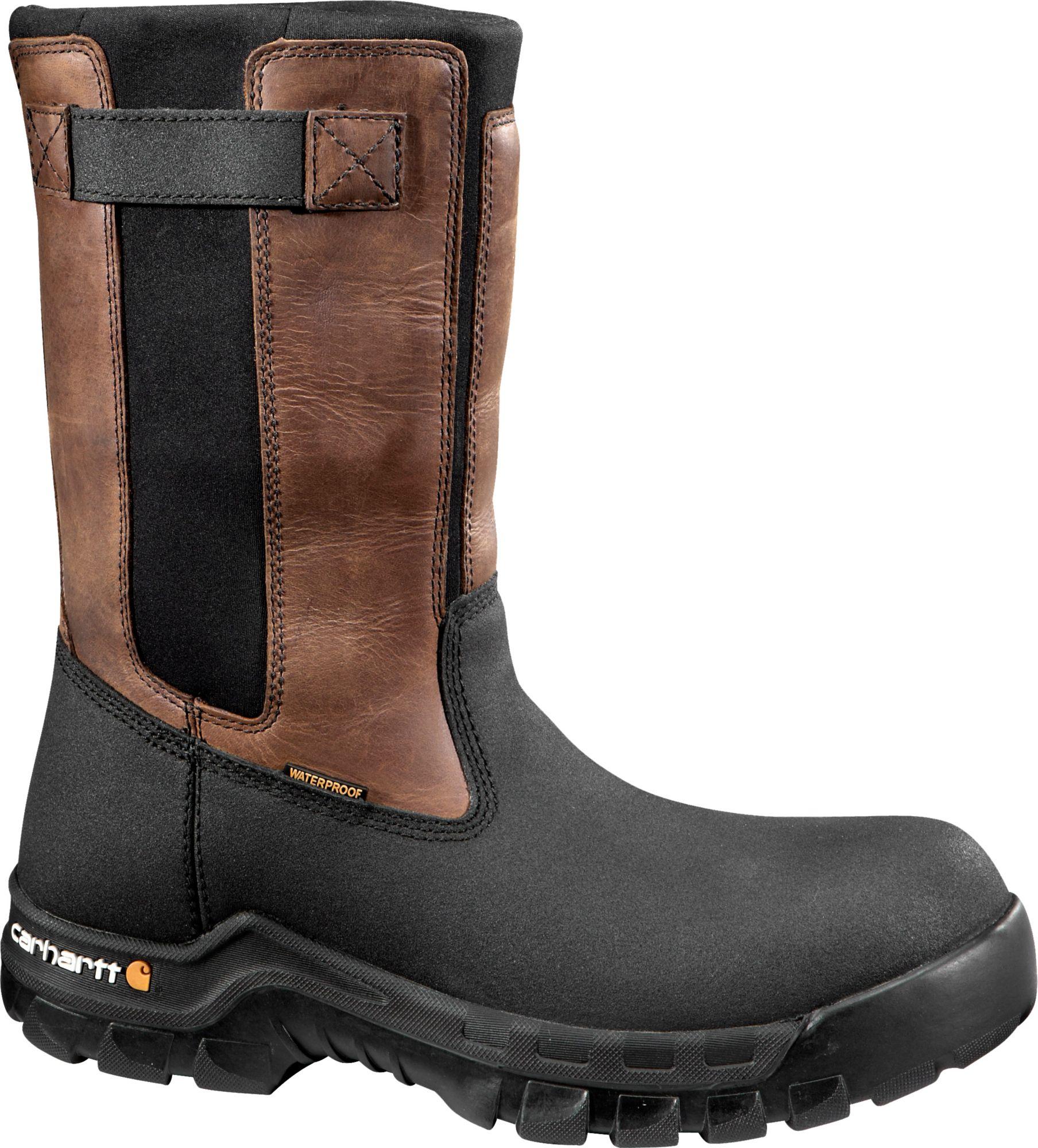 Men's Carhartt Flex Mud Wellington 11'' Composite Toe Work Boots Brown K77s8381