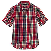 Carhartt Men's Essential Plaid Short Sleeve Shirt