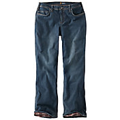 Carhartt Women's Relaxed Fit Flannel-Lined Boone Jeans