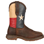 """Durango Men's Rebel Texas Flag 11"""" Waterproof Steel Toe Work Boots"""