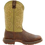 Durango Men's Coffee & Cactus Pull-On Work Boots