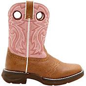 "Durango Kids' Saddle Tan and Pink 8"" Western Boots"