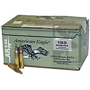 Federal American Eagle XM 5.56 NATO Steel Core FMJ Boat Tail Rifle Ammunition – 62 Grain