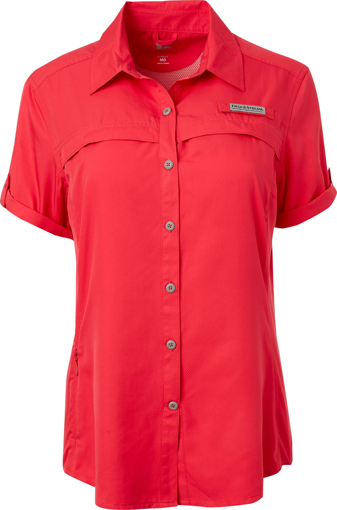 Short sleeve blouses for women breeze clothing for Field and stream fishing shirts