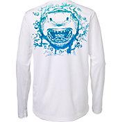 Field & Stream Boys' Graphic Long Sleeve Technical Shirt
