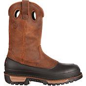 "Georgia Boot Men's Wellington Mud Dog 11"" Steel Toe Work Boots"