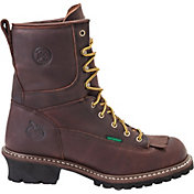 Georgia Boot Men's Logger Waterproof 8'' Steel Toe Work Boots