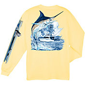 Guy Harvey Men's Marlin Boat Long Sleeve T-Shirt