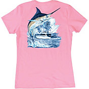 Guy Harvey Women's Marlin Boat T-Shirt