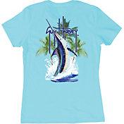 Guy Harvey Women's Palm Tree Splash T-Shirt
