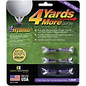 """GreenKeepers 1"""" Hybrid 4 More Yards Golf Tees – 6 Pack"""
