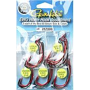 Gamakatsu EWG Worm Hook Assortment - 25 Pack