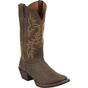 Justin Men's Sorrel Apache Stampede Western Boots