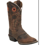 Justin Men's Whiskey Buffalo Silver Collection Western Boots