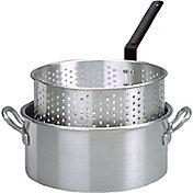 King Kooker 10 Quart Aluminum Deep Fryer Pan with Handles and Basket