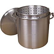 King Kooker 32 Quart Aluminum Pot with Basket and Lid