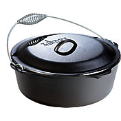 Lodge Cast Iron 9 Quart Dutch Oven with Bail Handle