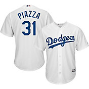 Majestic Men's Replica Los Angeles Dodgers Mike Piazza #31 Cool Base Home White Jersey