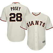 Majestic Men's Replica San Francisco Giants Buster Posey #28 Cool Base Home Ivory Jersey