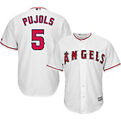 Majestic Men's Replica Los Angeles Angels Albert Pujols #5 Cool Base Home White Jersey