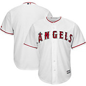 Majestic Men's Replica Los Angeles Angels Cool Base Home White Jersey