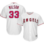 Majestic Men's Replica Los Angeles Angels C.J. Wilson #33 Cool Base Home White Jersey