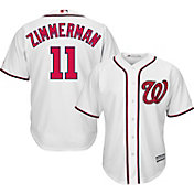 Majestic Men's Replica Washington Nationals Ryan Zimmerman #11 Cool Base Home White Jersey