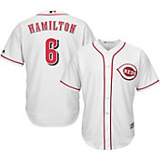 Majestic Men's Replica Cincinnati Reds Billy Hamilton #6 Cool Base Home White Jersey