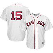 Majestic Men's Replica Boston Red Sox Dustin Pedroia #15 Cool Base Home White Jersey